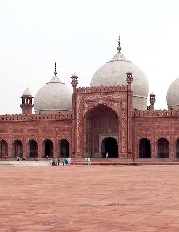 The 17th century Badshahi Masjid built during Mughal rule