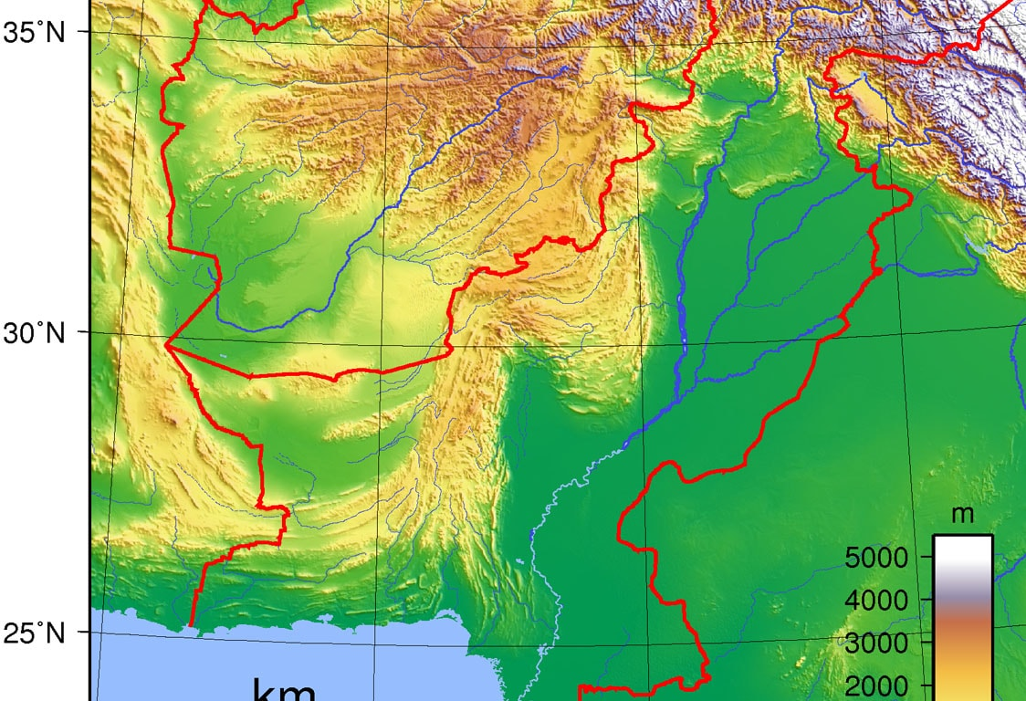 Center for Non-Communicable Diseases - Topography of Pakistan
