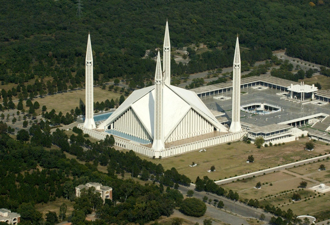 Center for Non-Communicable Diseases - Faisal Mosque located in Islamabad, was once Worlds largest Mosque.