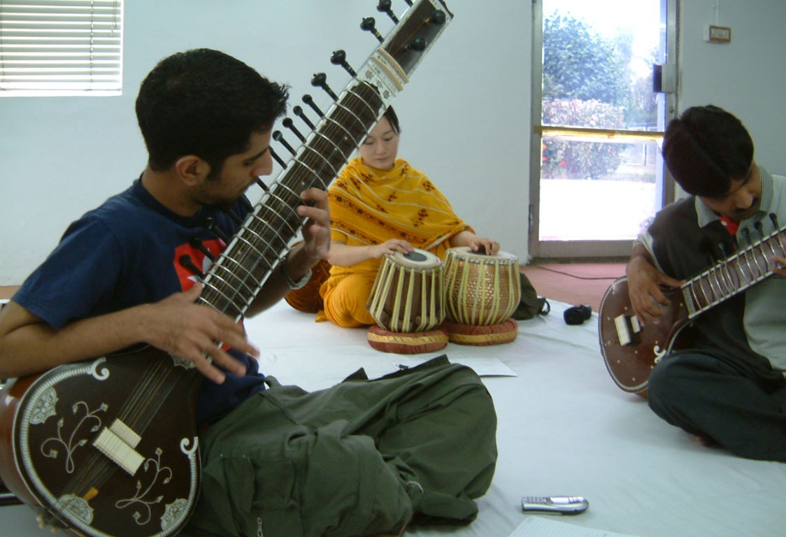 A sitar workshop in Islamabad, Pakistan.