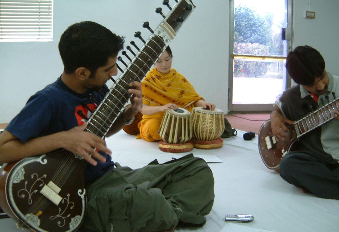 A sitar workshop in Islamabad, Pakistan.