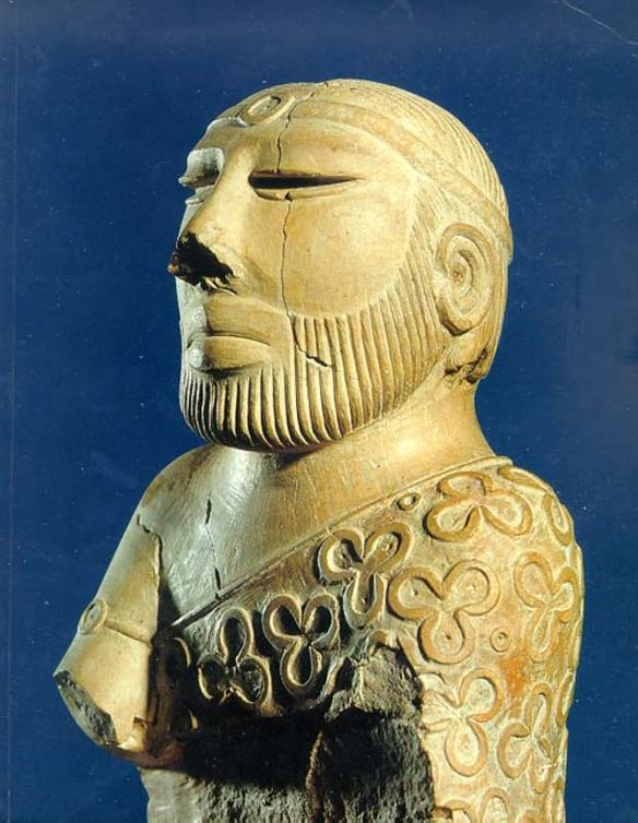 The Indus Priest/King wearing a Sindhi Ajruk, ca. 2500 BC.